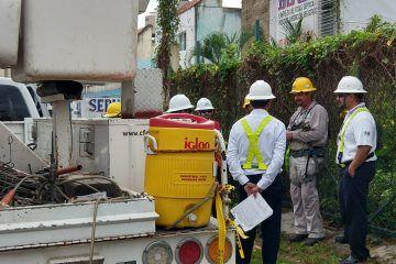 Cuatro municipios con afectación, como consecuencia de las descargas eléctricas de la lluvia