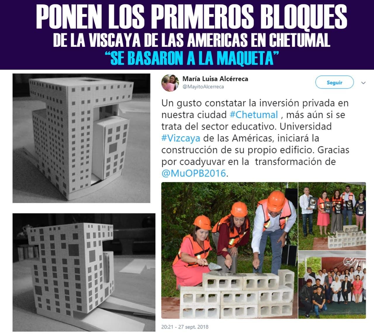 Ponen los primeros bloques de la Vizcaya de las Américas en Chetumal