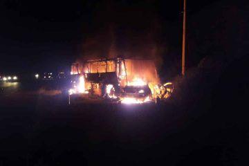 Accidente en tramo carretera Bacalar-Pedro Antonio Santos