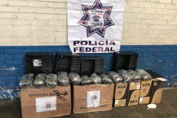 Decomisan 15 kilos de marihuana por la Policía Federal
