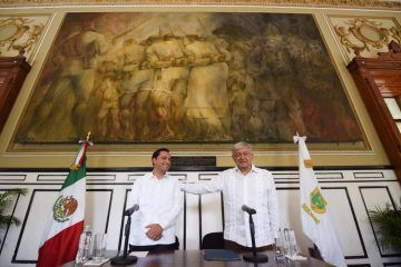 No les voy a fallar, dice AMLO en Mérida