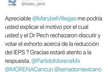 """Pregunta Janix a Pech y Marybel por qué """"traicionan al pueblo"""""""