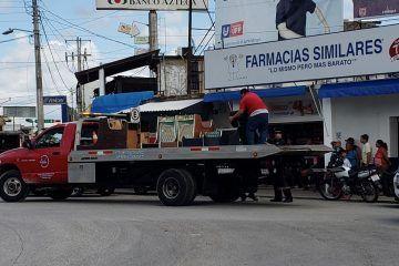 Sorpresivo operativo de la policía federal en el municipio de Felipe Carrillo Puerto
