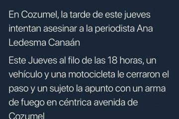 Denuncia columnista cozumeleña amenazas