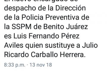 Nombra Capella a titular de la Policía Preventiva