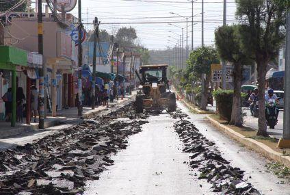 Rehabilitación de la avenida principal antes que inicie la EXPOMOR