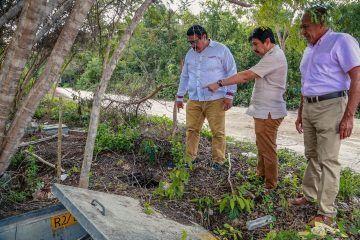 Limpieza general de calles de la colonia Tumben Káh: Víctor Mas Tah