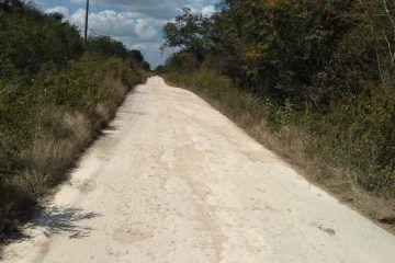 Carretera estatal de Trapich inconclusa, ignoran por qué no se culminó
