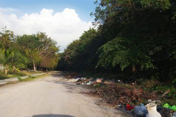 Tiradero de basura en los alrededores del panteón