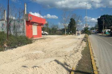 Obra de la rehabilitación de la avenida principal a paso tortuga