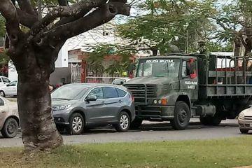 Fuerte movilización en las inmediaciones del Hospital General de Chetumal