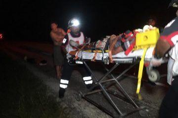 Accidente carretero deja un muerto y cuatro lesionados