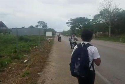Peligrosa travesía estudiantil