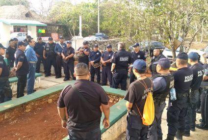 Policías se manifiestan por presuntos casos de abusos y ofensas que son objetos por parte de los comandantes