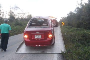 Solo fue un sustito, accidente automovilístico