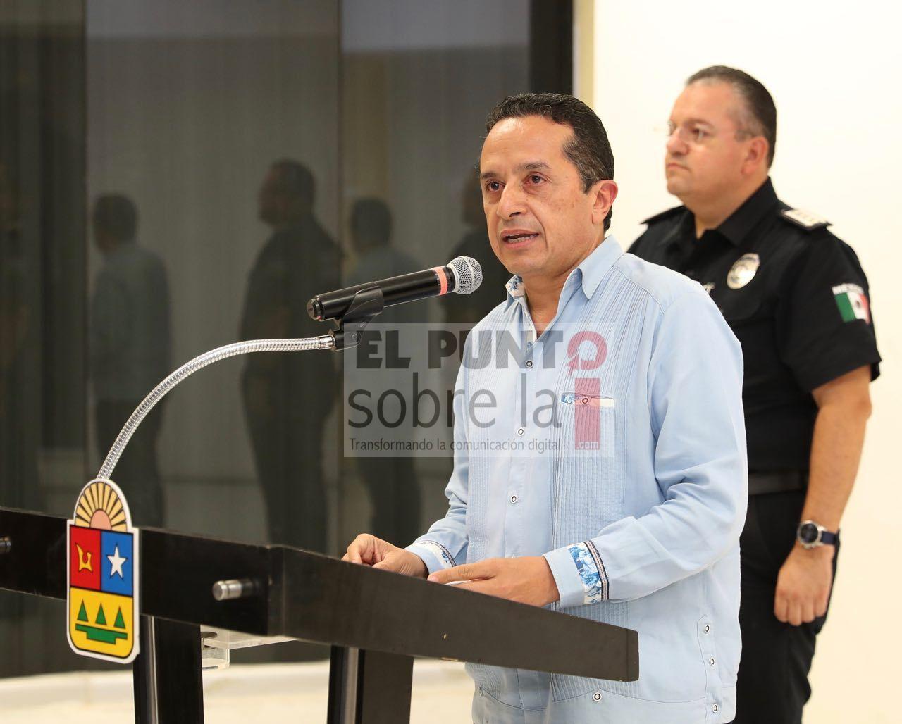 Ante la situación de emergencia que se vive en Solidaridad, el Gobierno del Estado asume el mando de la seguridad