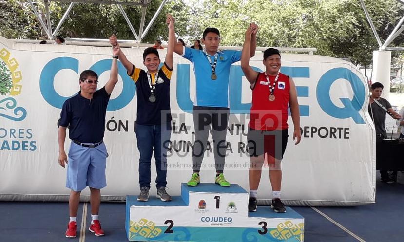 Cristian Huchin Gutiérrez obtiene dos preseas, una de oro y bronce en los Juegos Deportivos Estatales 2020