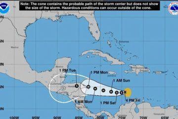 Tormenta tropical «Iota» avanza hacia Centroamérica; sería huracán el lunes