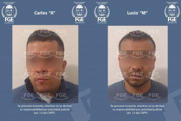 """Policías de Investigación de la FGE QROO capturaron a Lucio """"M"""" y a Carlos """"A"""" imputados por el delito de feminicidio"""