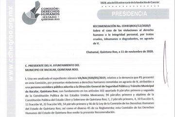 Desacata Alexander Zetina recomendación de la CDH por abuso policial en Bacalar