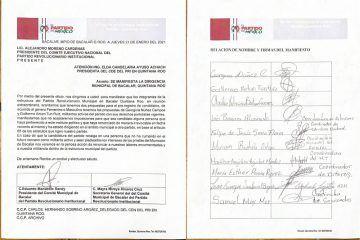 Tricolor en Bacalar, juega registro de suspirantes del PRI