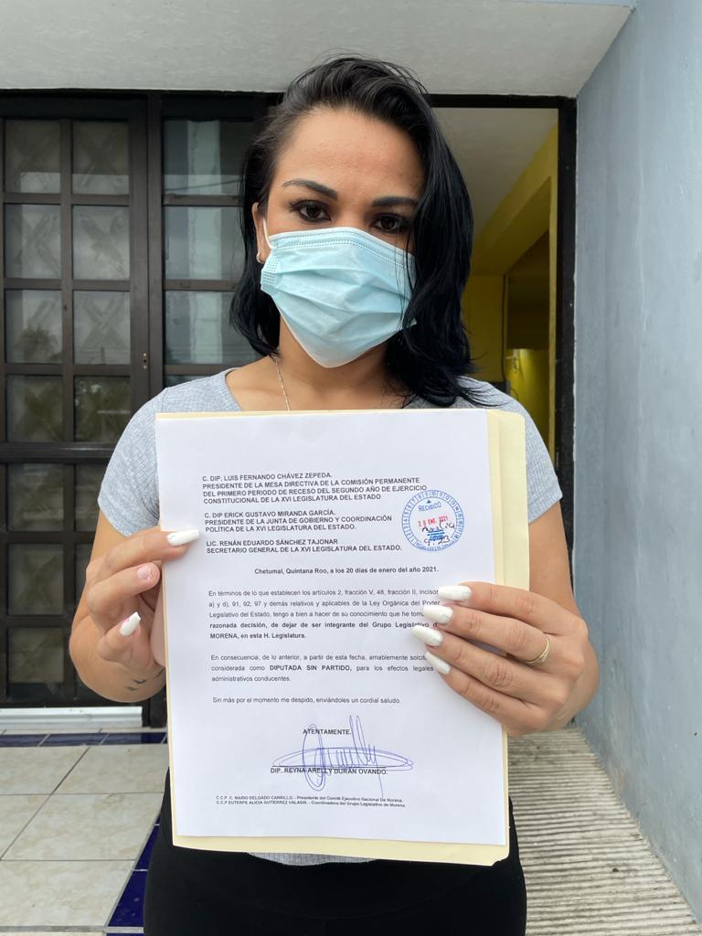 Por congruencia, me separó de la bancada de Morena en el Congreso del Estado: Reyna Durán